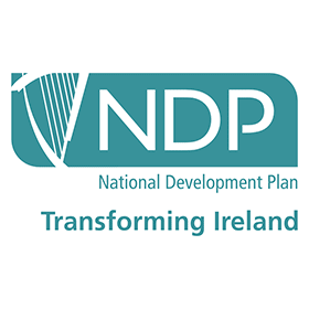 national development plan transforming ireland vector logo small